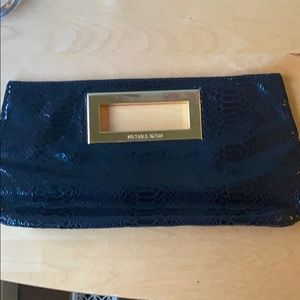 NEW Michael Kors Python clutch